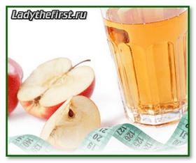 Диета на уксусе из яблок